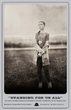 """Standing For Us All"" Greta Thunberg Limited Edition Fundraiser Cabinet Card"