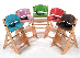 Keekaroo Adjustable Height Right Wood High Chair w/ Comfort Cushions
