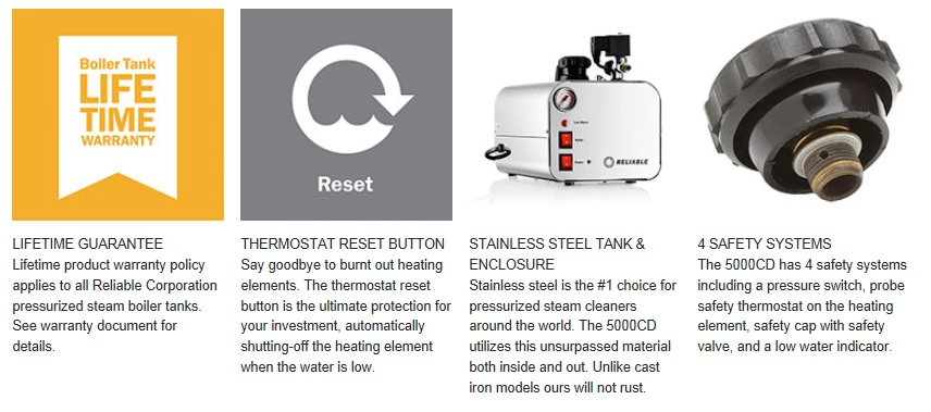 Details about NEW Reliable 5000CD Professional Dental Lab Steam Cleaner